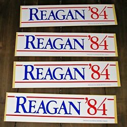 Last One And039reagan 84and039 Presidential Bumper Sticker Vintage Decal Unused 1984