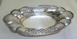 Vintage Repousse Solid Silver .800 Oval Fruit Tray , Weights 388 Grams