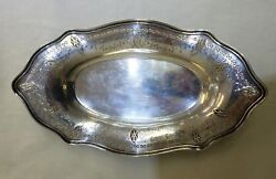 Vintage Repousse Solid Sterling Silver Oval Fruit Tray , Weights 263 Grams