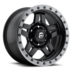 4 20x9 Fuel Matte Black Anza Wheels D55720908950 6x135 6x5.31 For Ford And Gm