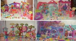 Littlest Pet Shop LOT✿ PLAYHOUSES✿Biggest House & ACCESSORIES✿RUG✿PETS +MORE