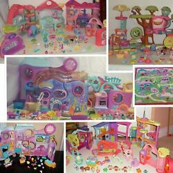 Littlest Pet Shop HUGE LOT✿PLAYHOUSES✿Biggest House & ACCESSORIES✿RUG✿PETS +MORE