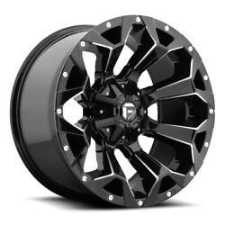 4 20x9 Fuel Gloss Black And Mill Assault Wheels 8x170 For 03-19 F250 F350 2-4wd