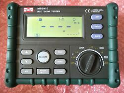 Rcd/loop Tester Ms5910 Mastech Resistance Tester Circuit Trip-out Current/time