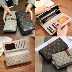 PU Leather Light Luxury Style Long Clutch Wallet Purse For Women Large Capacity $10.99