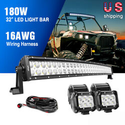 Nilight Curved Led Light Bar Spot Flood Combo For Jeep Truck 4wd Off Road