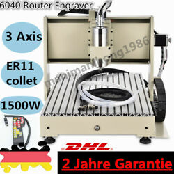 3 Axis 6040 Router Engraver Engraving Drilling Machine 1500W with Remote Control