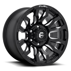 4 22x10 Fuel Black And Milled Blitz Wheels 8x170 For 2003-2019 F250 F350 2-4wd