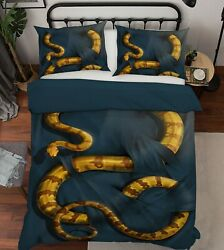 3d Yellow Boa Constrictor G616 Bed Pillowcases Duvet Cover Quilt Vincent Amy