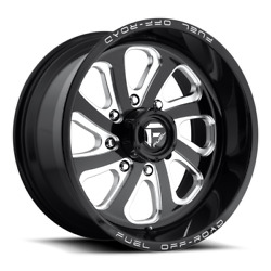 4 20x9 Fuel Gloss Black And Milled Flow 8 Wheel 8x170 For 03-19 F250 F350 2-4wd