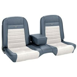 Deluxe Pony Seat Upholstery Ford Mustang Convert Front/rear Bench - Blue And White