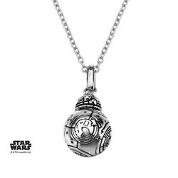 Star Wars™ 925 S. Silver Bb-8 Lead Hero Droid Spinning Head Pendant Necklace 18