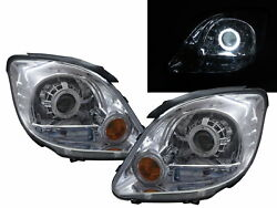 Adventure 2004-2008 Guide Led Halo Projector Headlight Chrome For Mitsubishi Lhd