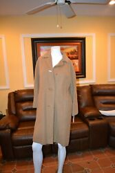 Vintage 60and039s 70and039s Long Light Brown Coat Beautiful Women 32
