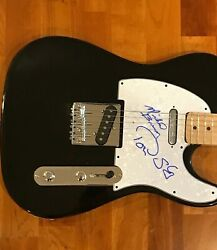 Michael Brewer And Tom Shipley Signed Electric Guitar One Toke Over 2