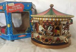Mr Christmas Holiday Merry Go Round Plays 21 Carols Lighted Animated Musical