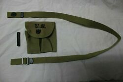 Us Military Ww2 M1 Carbine Rifle Stock Pouch Sling And Oiler Set