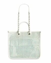 Steve Madden Stacey Tote White & Silver ~ Brand New with Tags