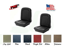 Front Bucket Seat Cover Upholstery + Foam Made In Usa By Tmi 1964-1965 Mustang