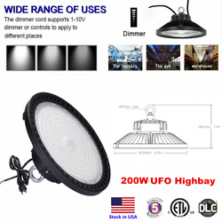 Dimmable 200w 30000lm Highbay Ufo Led Light Fixture 5000k For Workshop Warehouse