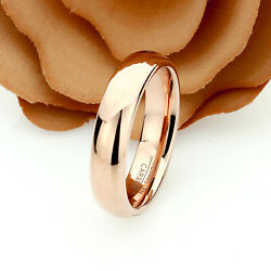 Personalized Women#x27;s Rose Gold Tungsten Wedding Ring Band Promise Ring 6mm $40.00