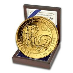 2018 Somalia Elephant 1 Oz Gold Coin 15th Anniversary Jubilee Low Mintage 150