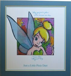 Disney Tinker Bell Poster Autographed Margaret Kerry W/ Great Message