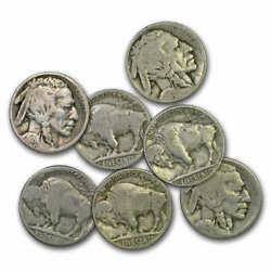 1913-1938 Buffalo Nickels 10 Different Dates And/or Mint Marks - Sku5118