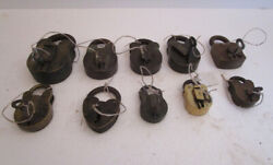 Lot Of 10 Pieces Antique Brass Padlock - Lock With Key - Brass Made 573