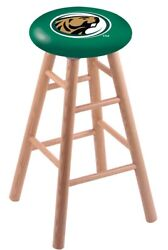 Holland Bar Stool Co. Oak Counter Stool In Natural Finish With Bemidji State ...