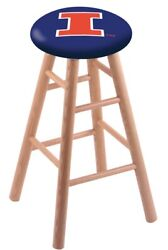 Holland Bar Stool Co. Oak Counter Stool In Natural Finish With Illinois Seat ...