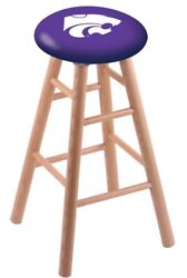 Holland Bar Stool Co. Oak Counter Stool In Natural Finish With Kansas State S...