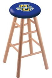 Holland Bar Stool Co. Oak Counter Stool In Natural Finish With Marquette Univ...