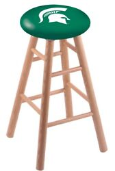 Holland Bar Stool Co. Oak Counter Stool In Natural Finish With Michigan State...