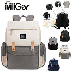 Miger Mummy Mom Diaper Bags Large Capacity Maternity Nursing Baby Backpack $35.99