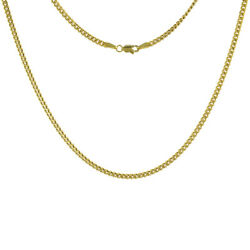 14k Solid Yellow Gold Miami Cuban Link Chain Necklace 2.7mm Size 18-30 Inches