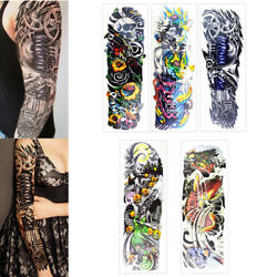 5Packs Sheets Arm Leg Temporary Waterproof Tattoos Art Stickers Removable sleeve