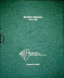 Intercept Shield Quality Coin Album For Us Buffalo Nickels 1913-1938 And Slipcase
