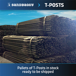 Sandbaggy 200 T-post For Fencing - 5 Feet Posts Available - Steel Fence Post
