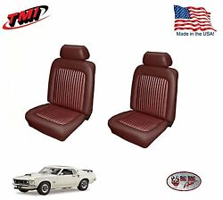 Dark Red Front Bucket Seat Upholstery For 1969 Mustang Made In The Usa Tmi
