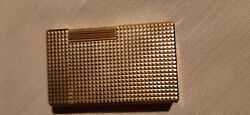 Dupont Lighter 1977 Collectible Gold Plated Gatsby Diamond Head