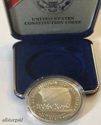 1787 - 1987 S 200th Anniversary Us Constitution And039we The Peopleand039 Silver Dollar