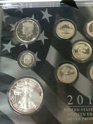 2013 S Limited Edition Silver Proof 8 Coin Set Mint, San Francisco W/coa And Box