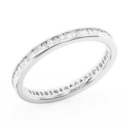 0.75ct Channel Set Baguette And Round Cut Diamonds Full Eternity Ring In 18k Gold