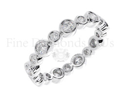 1.00 Carat Round Brilliant Cut Diamonds Full Eternity Ring Available In 18k Gold