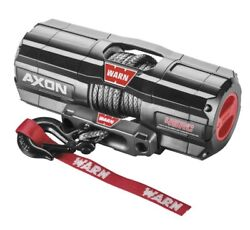Warn 101240 Axon 4500-rc Winch 27and039 1/4 Synthetic Rope 4500 Lbs Atv Utv Offroad