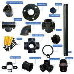 Industrial Pipe Shelf Bracket Components In Various Thickness Black