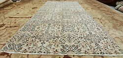 Rare Antique 1940-1950and039s Organic Wool Color Distressed Oushak Area Rug 4and0397x8and039