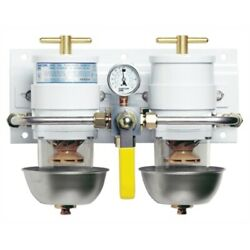 Racor 75500max30 Fuel Filter-water Separator-max-dual Ff/ws Rotary Valve Boat