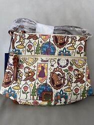 New Disney Dooney And Bourke Beauty And The Beast Letter Carrier Crossbody Bag Nwt
